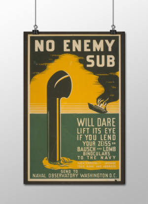 "WPA No Enemy Sub Poster, 12""x18"""