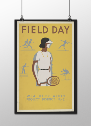 """WPA Field Day Poster, 12""""x18"""""""