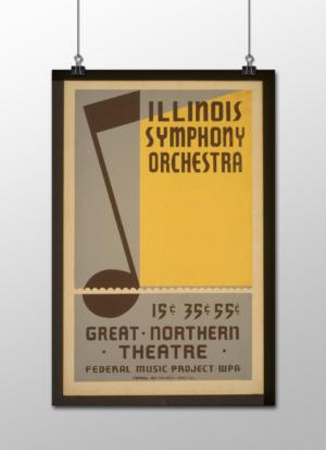"WPA Illinois Symphony Orchestra Poster, 12""x18"""