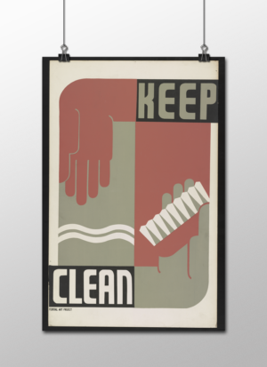"""WPA Keep Clean Poster, 12""""x18"""""""