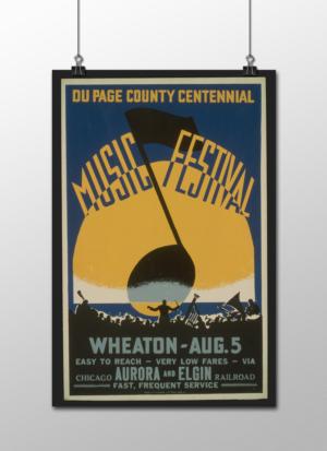 """WPA Music Festival Poster, 12""""x18"""""""
