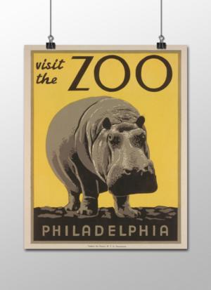 """WPA Philadelphia Zoo Poster, 8""""x10"""""""