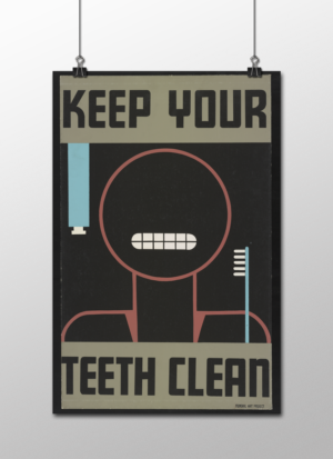 "WPA Keep Your Teeth Clean Poster, 12""x18"""