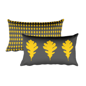 Oak Leaves Pillow, Stephanie Edition, 20″x12″