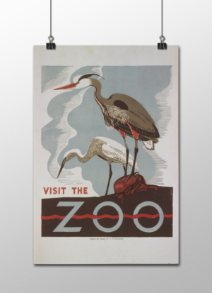 """WPA Visit The Zoo Poster, 12""""x18"""""""